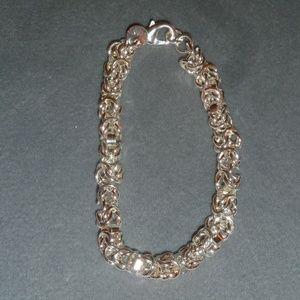 """Jewelry - Sterling Silver Link Bracelet Lobster Claw 8"""" Long"""